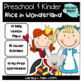 Alice in Wonderland - lesson plans, centers, worksheets, STEAM