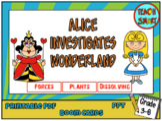 Alice investigates Science in Wonderland Boom Cards