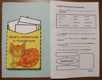 Alice's Adventures in Wonderland Novel Study: vocabulary, comprehension, writing