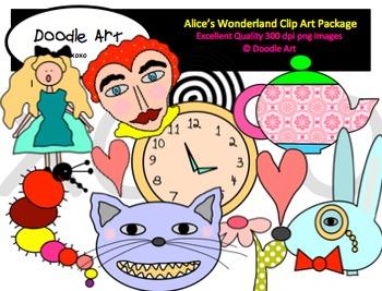 Alice's Wonderland Clipart Pack