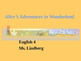 Alice's Adventures in Wonderland Ch. 1-12 Discussions for HS Students
