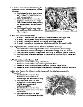 Alice's Adventures in Wonderland Chapters 4-6 12-Question Multiple Choice Quiz
