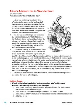 Alice's Adventures in Wonderland - Literary Text Test Prep