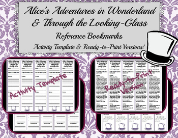 Alice's Adventures in Wonderland & Through the Looking-Glass Reference Bookmarks