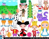 Alice's Adventures in Wonderland color 1 Digital Clip Art 52 images cod49