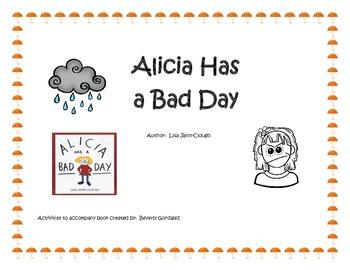 Alicia Has a Bad Day Activities