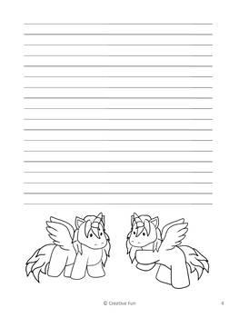 Alicorn Writing Paper