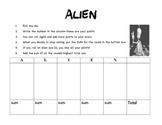 """""""Alien"""" Addition Fluency GAME"""