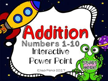 Alien Addition Interactive Power Point