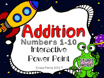 Alien Addition Interactive Power Point