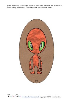 Alien Adjective Draw
