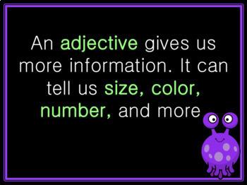 Alien Adjectives Lesson: PowerPoint & Worksheet