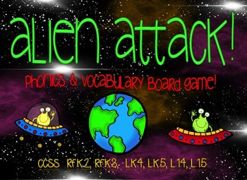 Alien Attack! Phonics-Vocabulary Game BUNDL
