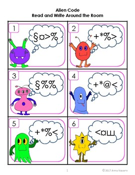 Alien Code Read and Write Around the Room - Sight Words (set 3)