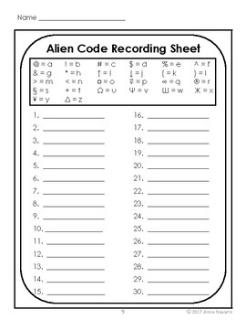 "Alien Code Read and Write Around the Room with Silent ""e"" Words"