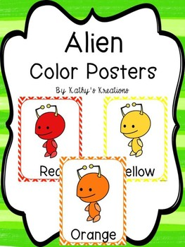 Alien Color Posters