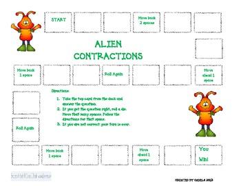 Alien Contractions Game