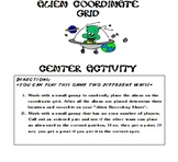 Alien Coordinate Grid Activity (CCSS 5.G.1)