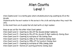 Alien Count Level 1 - Counting by 10s on the decade