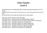 Alien Count Level 2 - Counting by 10s off the decade