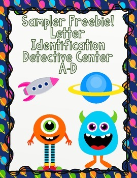 Letter Recognition Center Sampler:  Letters A-D Freebie