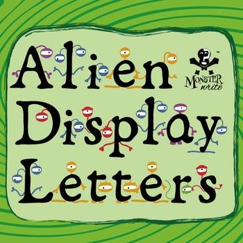 Alien Display Letters