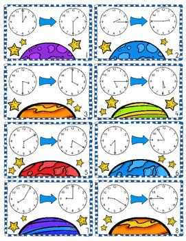 Elapsed Time Game, Worksheets, Student Helper Sheet