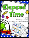 Elapsed Time Game, Worksheets, Student Helper Sheet