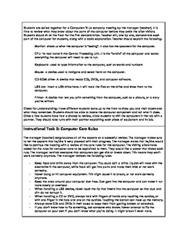 Alien Encounter I- A GRASPS Basic Computer Skills Technology Lesson