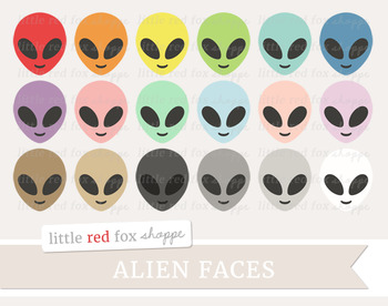 Alien Face Clipart; Outer Space, Galaxy, Creature