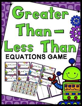Greater Than Less Than Game - 40 Greater Than Less Than Task Cards