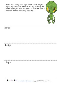 Alien Head Body and Legs Game