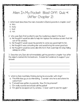 Alien In My Pocket (Book #1) Blast Off: 10 Quizzes