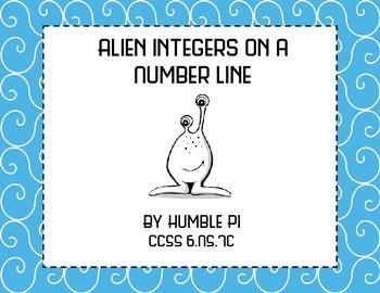 Alien Integers on a Number Line- 6.NS.7c