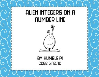 Alien Integers on a Number Line- 6.NS.7c