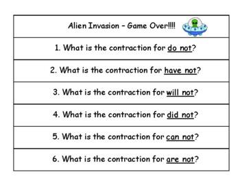 Alien Invasion Contractions