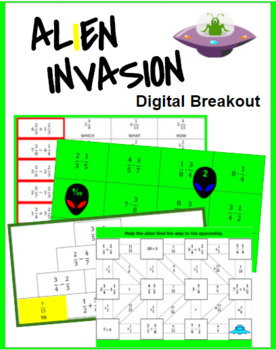 Alien Invasion Digital Breakout (Fractions)