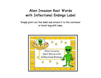 Alien Invasion Root Words with Inflectional Endings
