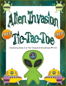 Alien Invasion Tic-Tac-Toe {FREEbie}