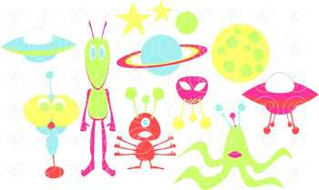 Alien Life Outer Space Clipart by Poppydreamz