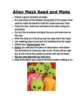 Alien Mask Read and Make