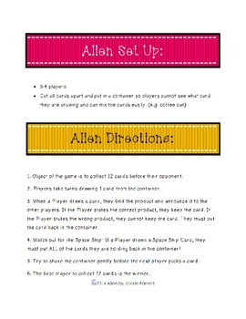 Alien Math Game-Addition Edition CCSS Aligned