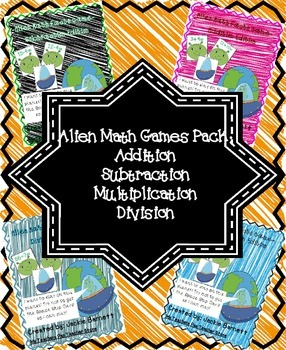 Alien Math Game Bundle CCSS Aligned