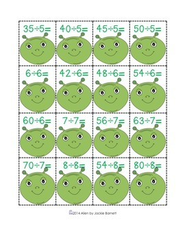 Alien Math Game-Division Edition CCSS Aligned