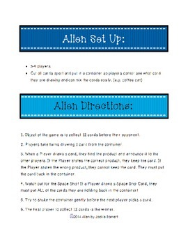 Alien Math Game-Multiplication Edition CCSS Aligned
