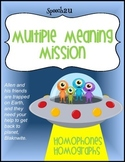 Multiple Meaning words-Alien themed Mission: Speech Therapy