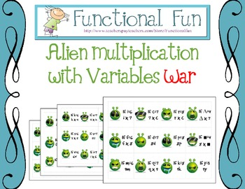 Alien Multiplication With Variables War
