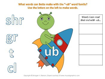 Alien Phonics for Short U Word Families