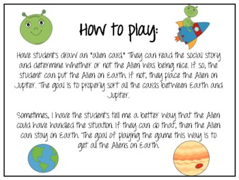 Alien Pragmatics/Social Skills Game