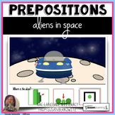 Alien Prepositions No Print BOOM Cards Telepractice distan